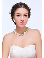 Women's Silver / Alloy Jewelry Set Imitation Pearl / Rhinestone