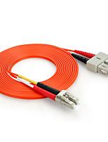 shengwei® sc (UPC) -lc (UPC) multimode âme double fibre cordon de raccordement 3m / 5m / 10m