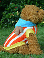 Pink/Orange Cotton Pirates King Joba Styles Clothes Coats For Dogs