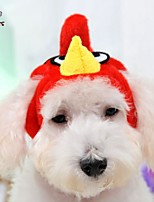 FUN OF PETS® New Red Bird Shape Fleece Hat for Pets Dogs (Assorted Sizes)