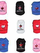 Camiseta - Todas as Estações - Vermelho / Preto / Branco / Azul / Rosa - Fantasias - de Terylene - para Cães / Gatos - XS / S / M / L