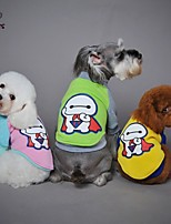 FUN OF PETS® Cool Super Baymax Pattern Cotton Coat T-Shirt for Pets Dogs (Assorted Sizes and Colours)