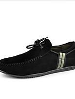 Men's Shoes Casual Suede Oxfords Black
