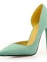 Черный Пурпурный Зеленый Розовый-Для женщин-Свадьба Для праздника Для вечеринки / ужина-Флис-На шпильке-Удобная обувь-Обувь на каблуках