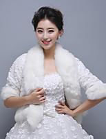 Ivory Half-Sleeve Wedding Wraps/Party/Evening Imitation Cashmere Coats/Jackets