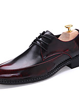Hot Sale Breathable Men's Shoes Office & Career / Party & Evening / Casual Leather Oxfords Black / Brown / Red / Silver