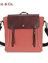 Kate&Co.® Women's Fashion England Canvas Leather Backpack