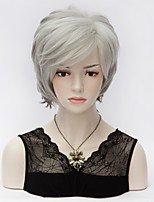 High Quality Gray Gradient Short Layered Straight Cosplay Fashion Wig Bobo Style Synthetic Hair Wig