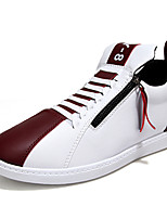 Men's Shoes Athletic PU Fashion Sneakers Blue / Brown / Red