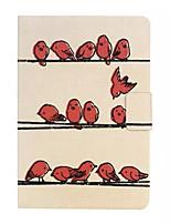 padrão de aves girando coldre apartamento em mini-ipad / Mini2 ipad / MINI3 ipad