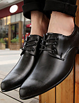 Men's Shoes Wedding / Office & Career / Party & Evening / Casual Leatherette Oxfords Black