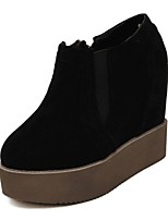 Women's Shoes Velvet Wedge Heel Platform Comfort Round Toe Boots Party and Dress More Colors Available