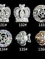 10pcs  crown  goldfish Fashion Finger Nail Jewelry Alloy/Crystal Skeleton Nail Stickers