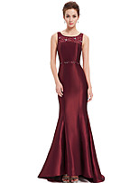 Formal Evening Dress - Burgundy Trumpet/Mermaid Scoop Floor-length Polyester