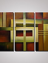 Oil Painting Abstract Art Set of 3 Hand-Painted Canvas Painting for Home Decoration Unframed
