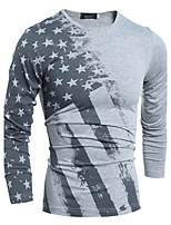 Men's Fashion  Printing  Long Sleeve T-shirt