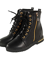 Women's  Low Heel Combat Boots / Round Toe / Closed Toe Boots