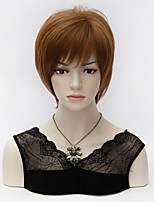 Women Nice Short Natural Straight wig Stylish lady Auburn synthetic hair Purecas wigs