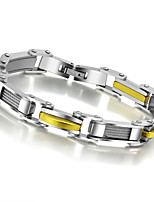 Fashion Man's Casual Hologram Jewelry Punk Stainless Steel Silver Gold Male Bracelets & Bangles