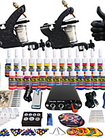Solong tatouage kit de tatouage complète 2 Pro mitrailleuses 28 encres alimentation poignées d'aiguilles