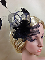 Women Fabric Hair Clip , Bowknot Fascinators Headpiece