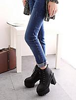 Scarpe Donna - Stivali - Casual - Stivali - Quadrato - Finta pelle - Nero