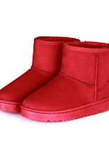 Women's Shoes Leatherette Flat Heel Fashion Boots Boots Outdoor / Casual Black / Blue / Red
