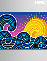 E-HOME® Stretched Canvas Art Sun And Waves Decorative Painting One Pcs
