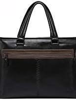 X.BNJ  Men Briefcase Genuine Leather Men Business Handbag Vintage Top Layer Cowhide Messenger Shoulder Bags