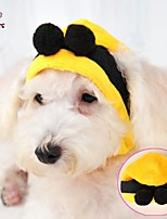 FUN OF PETS® Cute Yellow Bee Shape Cotton Hat for Pets Dogs (Assorted Sizes)