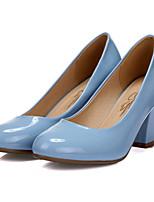 Women's Shoes Leatherette Chunky Heel Heels Heels Outdoor / Casual Black / Blue / White