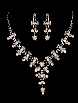 Women's Elegant Alloy With Rhinestone Jewelry Sets
