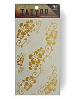 King Horse® GoldenTattoo YF26 5sheets  Wedding White Tattoo Stickers  Non Toxic/Wedding /Hawaiian  20.5*10cm Flower