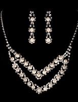 Conjunto de jóias Zircônia Cubica Liga Mulheres