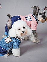 FUN OF PETS® Classic Plaid Collar Pocket Jumpsuits Coat for Pets Dogs (Assorted Sizes and Colours)