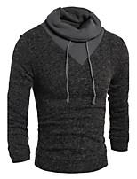 Herren Standard Pullover-Ausgehen Lässig/Alltäglich Arbeit Klub Einfach Street Schick Aktiv Solide Rollkragen LangarmKaninchen-Pelz