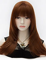 Purecas European Style Long Layered Straight Full Bang Hair Auburn Vogue Party Synthetic Lolita Elegant Women Wig