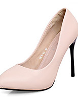 Women's Shoes Leather Stiletto Heel Heels / Pointed Toe / Closed Toe Heels Wedding / Office & Career / Party & Evening
