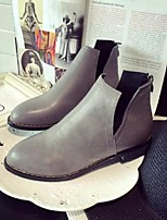 Women's Shoes Low Heel Fashion Boots / Pointed Toe / Closed Toe Boots Casual Black / Gray