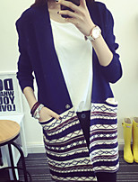 Women's Solid Blue / Beige / Gray Cardigan , Casual Long Sleeve