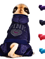 URBAN PAWS Pets Sportswear  Coat Warm Ski Jumpsuit  with Rhinestone  for Dogs and Cats (Assorted Colors, Assorted Sizes)