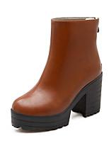 Women's  Chunky Heel Round Toe / Closed Toe Boots