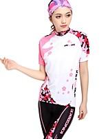 Summer Women Anti-sweat Short Sleeve Cycling Jersey Set