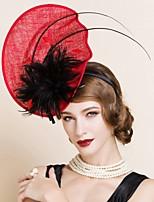 Vlas Vrouwen Helm Bruiloft / Speciale gelegenheden Fascinators Bruiloft / Speciale gelegenheden 1 Stuk
