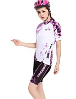 Women Summer Sports Bike Bicycle Anti-sweat Cycling Jersey Clothing Set S-XXXL