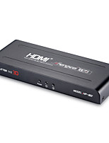 Shengwei® HP-802 2 Port HDMI Splitter 1 in 2 Out Full 1080p & 3D (One Input to Two Outputs)