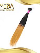 buenas seda cabello humano rectas extensiones baratas mongol vírgenes ombre pelo 2 de tono 1b / 27 de color 1pcs solamente 8 '' - 30 ''