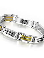 Fashion Man's Casual Hologram Bracelets & Bangles Punk Stainless Steel Silver Gold Male Bracelet
