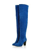 Zapatos de mujer - Tacón Robusto - Tacones / Botas a la Moda - Tacones / Botas - Exterior / Casual - Ante / Semicuero -Negro / Azul /