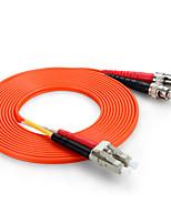 shengwei® st (UPC) -lc (UPC) multimode âme double fibre cordon de raccordement 3m / 5m / 10m